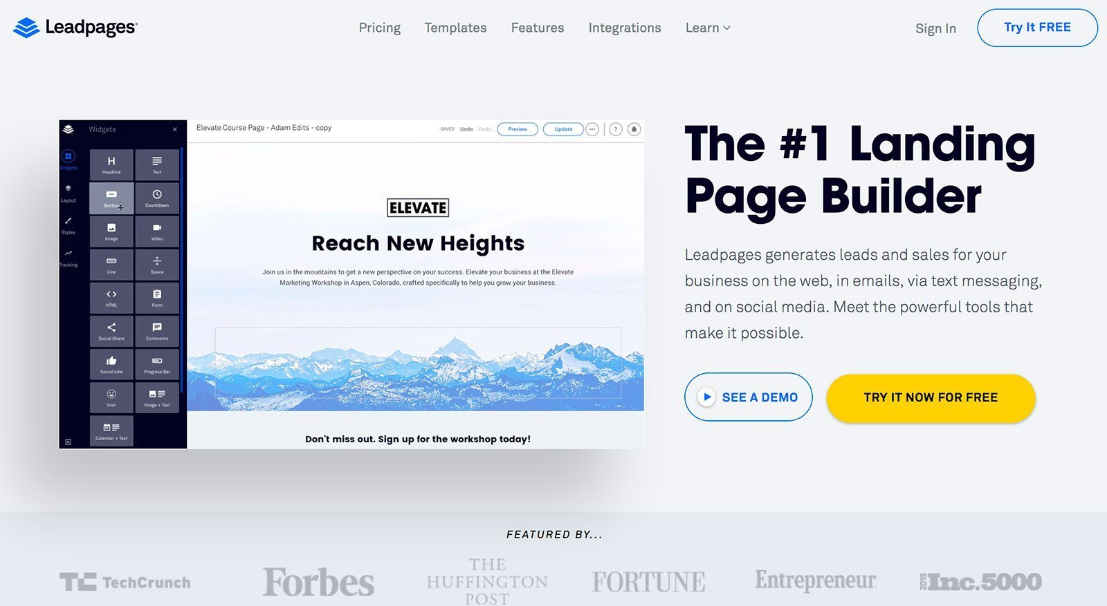 Leadpages Height Mm